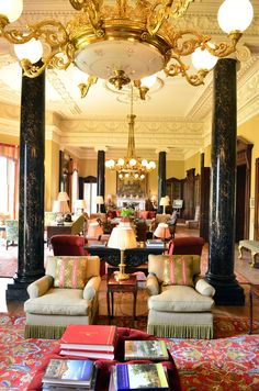 The drawing room of Ballyfin House, built in the 1820s. It sits in the small village and parish of County Laois, Ireland.