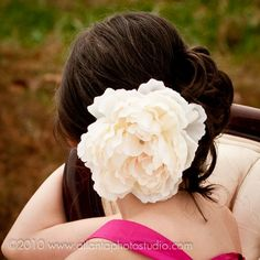 Hey, I found this really awesome Etsy listing at https://www.etsy.com/listing/63951893/ivory-peony-bridal-hair-flower-hair