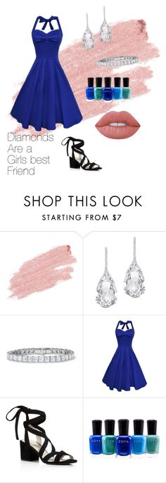 """""""Diamonds are a girls best friend 💍"""" by samanthainpanama ❤ liked on Polyvore featuring Jane Iredale, Plukka, Kenneth Cole, Zoya and Lime Crime"""