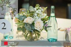 classic fishbowl vase of pastel roses, lisianthus, freesia, stock, gum, pittostrum foliage Petersons champagne house, Pokolbin Hunter valley   www.jademcintoshflower.com.au http://www.morrisimages.com.au