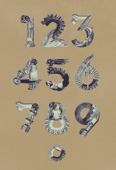 Birgit Palma I Diseño Tipografia-Collage I Números