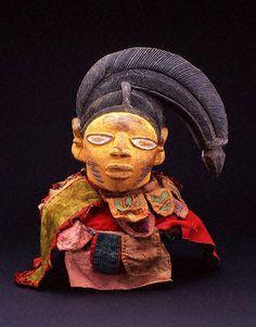 Headdress (ere egungun olode) Yoruba peoples, Abeokuta, Egba, Nigeria 19th century - early 20th century Wood, cotton cloth, paint X65.9148; ...