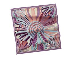 """Hermes: Les Flots du Cheval. Vintage silk twill scarf, hand rolled, 28"""" x 28""""."""