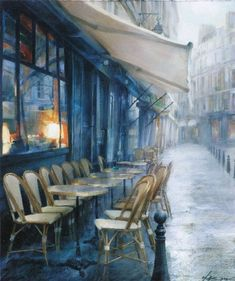 Art by Andrei Krioutchenko Great Paintings, Oil Paintings, Paris, Rainy Days, Belle Photo, Art Blog, Modern Art, Art Gallery, Photos