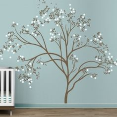 LittleLion studio Blossom Tree extra large kids wall decals by Couture Deco