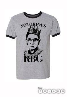 06d1616a7 Notorious RBG Shirt / Ringer Tee Style : Gildan Ringer Tee Sizes : Small  -2XL