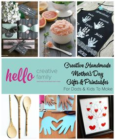 Creative Handmade Mother's Day Gifts and Printables