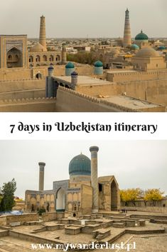 If you have only one week in Uzbekistan here is the best Uzbekistan itinerary with all the highlights to see in this fascinating country. Asia Travel, Solo Travel, Travel Tips, Rest Of The World, Day Tours, Cool Places To Visit, Trip Planning, Adventure Travel, Travel Inspiration