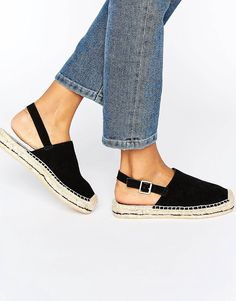 Search for espadrilles at ASOS. Shop from over styles, including espadrilles. Discover the latest women's and men's fashion online Cute Sandals, Cute Shoes, Me Too Shoes, Black Espadrilles, Espadrille Sandals, Types Of Sandals, Asos, Professional Shoes, Prada Shoes
