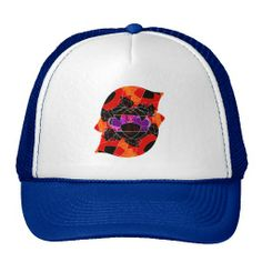 Red Digital Penguin Hat | by groovygap.com | blue & white | #penguin #coolhats