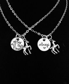 SET of After All This Time/Always Necklaces Snape Inspired Best Friend or Couples Charm Necklaces