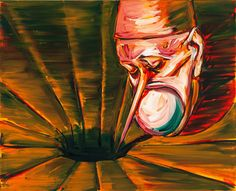 "Lubomir Typlt, ""Mouth hurts II."", 2005, oil on canvas, 130 x 160 cm. Courtesy of the artist & Oneiro gallery"