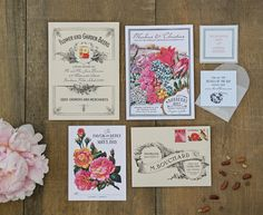 Seed Packet Invitation | Coral Pheasant