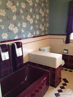 Jodi Owns A 1949 Ranch Style Home And Has Just Finished Restoring Her Stunning Vintage Maroon Peachy Pink Bathroom She Cleaned Up Uncovered The