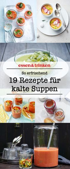So erfrischend! Entdeckt hier 19 leckere und herrlich frische, kalte Suppen: Von… So refreshing! Discover here 19 delicious and wonderfully fresh, cold soups: From cold pea soup to melon gazpacho! Melon Recipes, Fruit Recipes, Summer Recipes, Winter Melon Soup, Eggplant Dishes, Pork Ribs, Eating Habits, Healthy Drinks, Food Inspiration