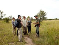 A walking safari in the African bush at Rhino Post Safari Lodge is a once in a lifetime experience!
