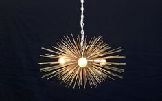 3Bulb Gold Mini Urchin Chandelier by Stimulight on Etsy