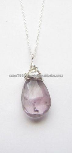 falak gems Wire Wrapped Amethyst Gemstone Sterling Silver Gemstone Jewelry Crown Chakra Jewelry