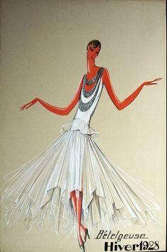 1928 - Jeanne Lanvin 'Betelgeuse' dress - sketch
