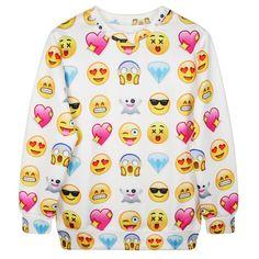 3D Printed Hoodies - Smile Face Long Sleeve Loose Sweatshirt