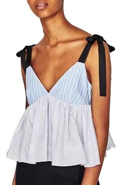 Trendy-Road-Style-Shop-Online-Woman-Fashion-Street-top-blouse-sleeveless-v-neck-deep-backless-adjustable-strap-striped-sky-blue-white