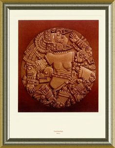 Mexican Art Lithograph Coyolxauhqui