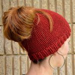 For more on this popular trend (and free knit patterns), see also: The Best Messy Bun Crochet Hat Patterns – The Definitive Ponytail Hat Collection! The Best Free Crochet Ponytail Hat Pattern… Ponytail Hat Knitting Pattern, Loom Knitting, Knitting Patterns Free, Free Knitting, Crochet Patterns, Hat Patterns, Free Pattern, Stitch Patterns, Knitting Needles
