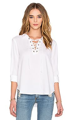 Shop for Bella Dahl Lace Up Long Sleeve Top in White at REVOLVE. Free day shipping and returns, 30 day price match guarantee. Top Manga, Victoria, Revolve Clothing, Blouse Designs, Blouses For Women, Long Sleeve Tops, Look, Lace Up, Tunic Tops