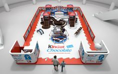 """Kinder Chocolate """"Kid Face Activation Stand"""""""