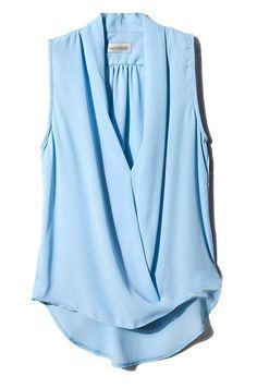 Lovely blue V neck blouse