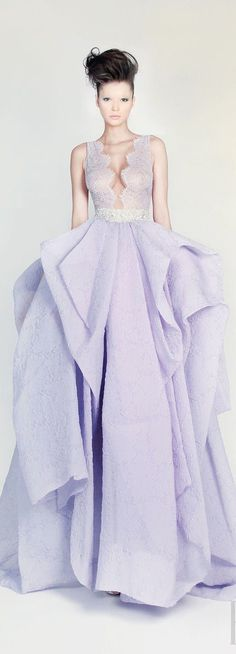 Rami Kadi Couture Lace Lilac Gown..Gorgeous!