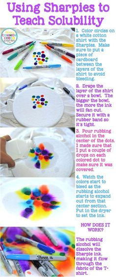 Fun Crafts, Diy And Crafts, Crafts For Kids, Arts And Crafts, Sharpie Crafts, Sharpie Art, How To Tie Dye, How To Dye Fabric, Fabric Painting