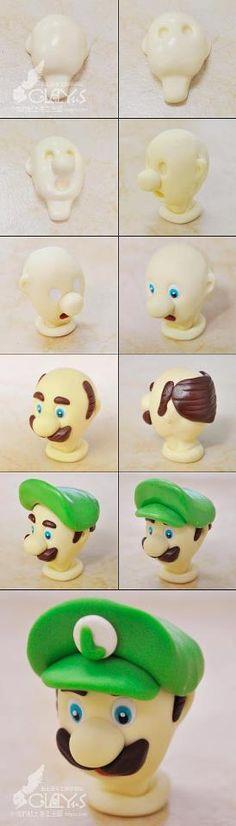 Luigi fondant topper.