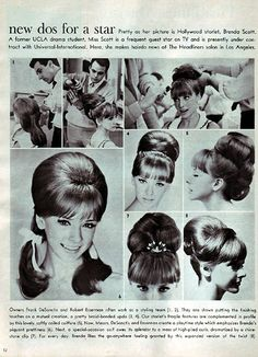 Vintage bouffant how to 1960 Hairstyles, Vintage Hairstyles, Hairstyles Videos, Wedding Hairstyles, Beehive Hairstyles, Vintage Makeup, Vintage Beauty, Hj History, 1960s Hair