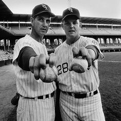 Hoyt Wilhelm & Wilbur Wood, 1968;  two knuckballers for the White Sox.