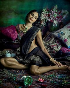 Just what the doctor prescribed for those mid-week blues: #ELLEJuly covergirl #UjjwalaRaut turns back time in the most decadent pieces of the season. ( Tarun Vishwa  @malini_banerji @deepa.verma.makeup. Flowers: @twelvetomatoes. Set design: Karan Singh Parmar)  via ELLE INDIA MAGAZINE OFFICIAL INSTAGRAM - Fashion Campaigns  Haute Couture  Advertising  Editorial Photography  Magazine Cover Designs  Supermodels  Runway Models