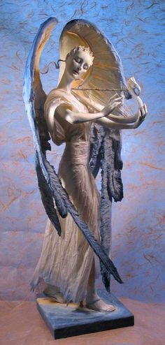 """""""Angel"""" (Circa 2011), By Forest Rogers (b.1961), Mixed Media: Creative Paperclay and LaDoll with Premier, Forest Beings: Fantasy Art by Forest Rogers, Pennsylvania, United States. Artist's Social Media site: https://www.facebook.com/ForestRogersArt/timeline #angels"""