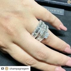 REPOST!!!  😍😍 *speechless* I just love Emeralds!!! #Repost @champagnegem with @repostapp ・・・ Team #EmeraldCut here it's a brilliant @picchiotti_fine_jewellery Xpandable engagement ring and eternity band that doesn't need resizing, a genius design spotted during #BaselWorld2017 for #MyLoveAffairWithDiamonds! #ExceptionalEmerald #EternityBand #Brilliance #Scintillation #Sparkle #Fire #PicchiottiJewellery #Xpandable #BaselWorld #CDxBaselWorld2017 #ChampagneGemDiaries #ChampagneGemGoesToBasel…