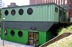Urban Space Management has developed several other shipping container designs including the 2500 square foot Mansell Community Center