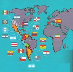 Nations around the world that speak Spanish (Latin America, Europe & Africa)