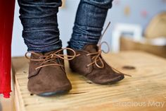 Dapper Brown Suede Shoes - Baby Boy.
