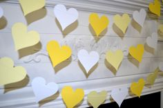 Hey, I found this really awesome Etsy listing at https://www.etsy.com/listing/173961413/paper-heart-garland-wedding-decoration