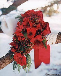 Christmas wedding bouquet...Ollivander