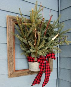 Natural Outdoor Christmas Decorating Ideas | Source : pinterest