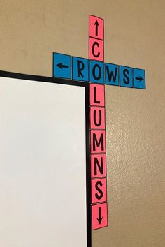 This rows & columns bulletin board poster is a cute addition to ANY classroom! Free middle school math classroom decor that will help your students learn the difference between rows and column…