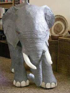 Paper Mache Elephant: Tutorial