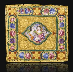 A Qajar enamelled gold plaque, signed Muhammad Baqir, Persia, 19th century | lot | Sotheby's
