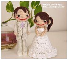 pareja de novios amigurumi pagina japonesa