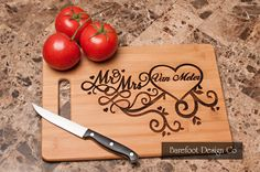 13in x 9.5in x .375in Bamboo Cutting Board Can be used for just decoration or flip it over to use as a cutting board. Please do not cut on the engraved side. Bamboo is a grass that grows to maturity i