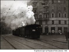 """Milano -""""El gamba de legn"""", piazzale di porta Ludovica, 1930"""